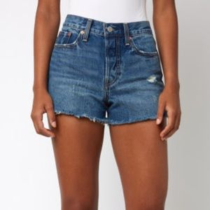 Levi's Wedgie In All Blue Button Fly Denim Short
